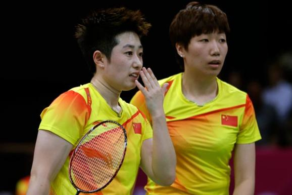 Chinese women's doubles pair in badminton - PA