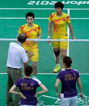 Chinese women's badminton pair - PA