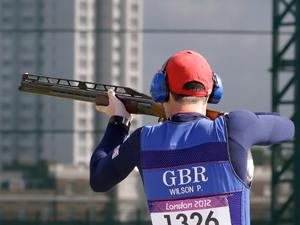 Peter Wilson wins shooting gold