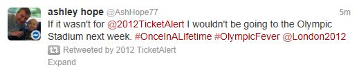 Ticket alert @2012TicketAlert