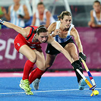 Team GB's hockey team lost of Argentina.
