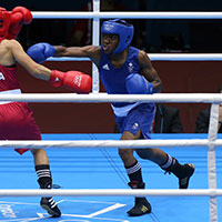 Nicola Adams won her match.
