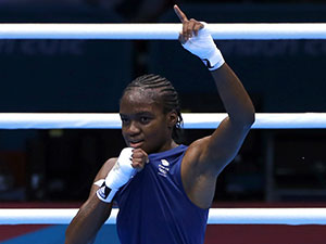Nicola Adams wins boxing gold.
