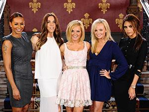 The Spice Girls have been pictured rehearsing for the Olympic 2012 closing ceremony.