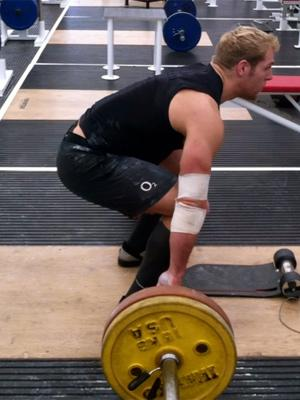 James Haskell on the weights
