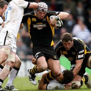 James Haskell playing for Wasps - PA