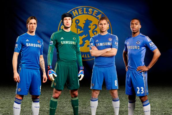 Chelsea's new football kit