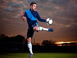 Robin van Persie tests the adidas Predator Lethal Zones boot (adidas)