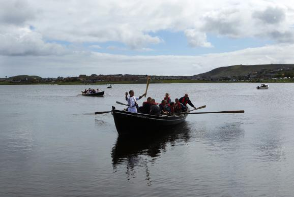 The flame passes through Lerwick