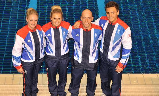 Sarah Barrow, Tonia Couch, Pete Waterfield and Tom Daley