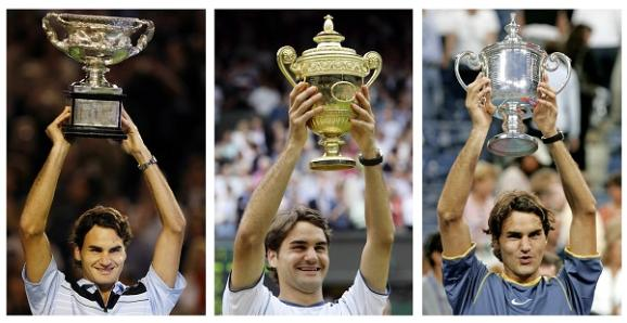 Roger Federer holds the record for most men's grand slam titles won.