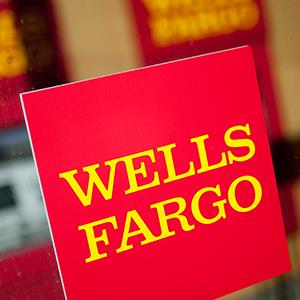 Caption: a Wells Fargo & Co. bank branch in New YorkCredit: © Scott Eells/Bloomberg via Getty Images