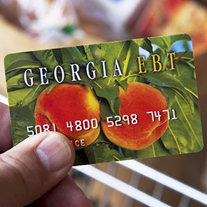 A Georgia's food stamp card © ZUMA Press/Alamy