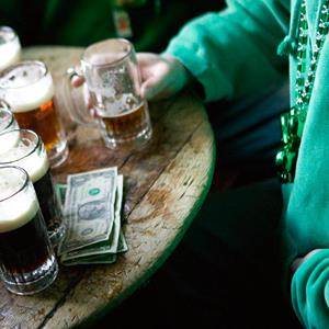 People celebrate St. Patrick's Day at McSorley's Pub in New York City