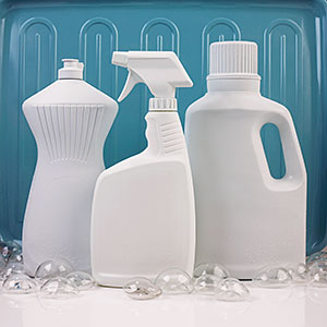 Assorted Cleaning Products Without Labels © Ocean/Corbis