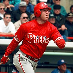 Credit: © Pat Sullivan/APCaption: File photo of Philadelphia Phillies' Lenny Dykstra in 1998