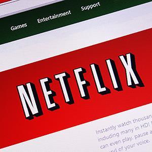 Netflix online DVD & movie rental site © Kevin Britland/Alamy