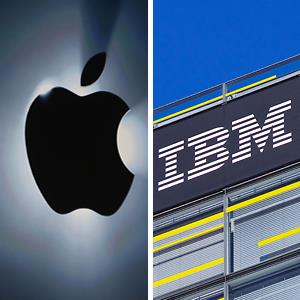 (From left) Apple & IBM logos © Hitij/epa/Corbis