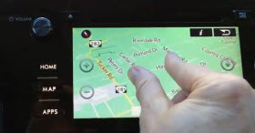 2015 Subaru Legacy multi-touch display.