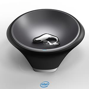 Intel's smart wireless charging bowl. Photo credit: Intel Corp.