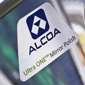 Credit: © Gene J. PuskarCaption: Alcoa's aluminum Ultra One Truck Wheel on display at Alcoa's headquarters in Pittsburgh