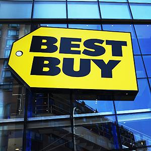 Caption: A Best Buy store in New York