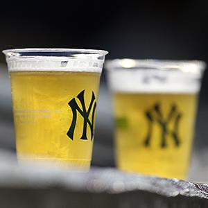 File photo of two beers resting on a ledge during the New York Yankees game against the Chicago Cubs at Yankee Stadium © Ezra Shaw/Getty Images
