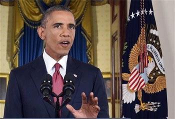 El presidente Barack Obama habla durante un mensaje a la nación en la Casa Blanca el miércoles 10 de septiembre de 2014. (Foto AP/Saul Loeb, Pool)