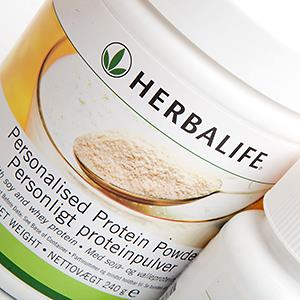 Herbalife products on display (© Charlotte Moss/Alamy)