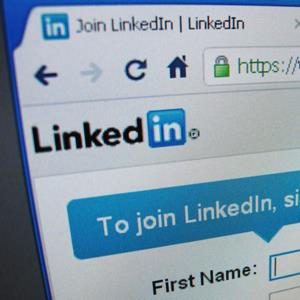 The sign up page of Linkedin.com (© David Loh/Newscom/Reuters)