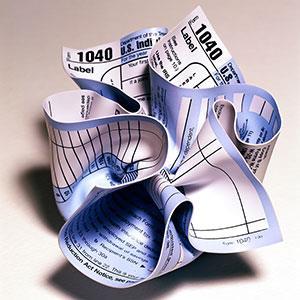 Tax form © Brian Hagiwara/Brand X/Corbis