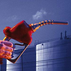 Gas pump © Comstock