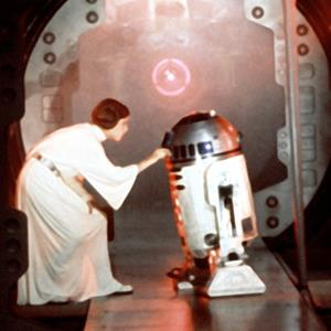 Carrie Fisher & Kenny Baker in
