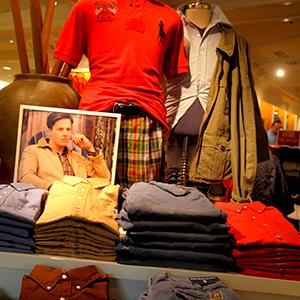 Caption: Polo Ralph Lauren clothing fashion retail outlet in Maine