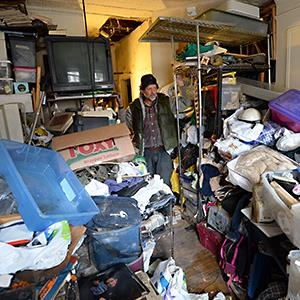 Caption: Kevin McCrary, a Manhattan hoarder, faces a March 14 eviction from the City of New York unless he cleans his East 65th Street rent controlled apartment © Doug Meszler/Splash News