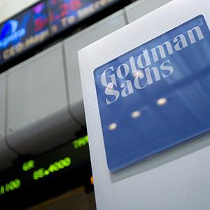 Goldman Sachs Group Inc. signage is displayed on the floor of the New York Stock Exchange (© Jin Lee/Bloomberg via Getty Images)