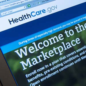 Healthcare.gov website (© Leigh Vogel/Corbis)