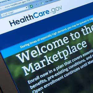 Healthcare.gov website (© Leigh Vogel/Corbis)
