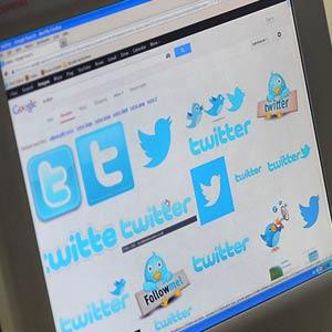 A computer displaying Twitter logo © Jens Kalaene/dpa/Corbis
