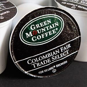 Caption: A K-Cup by Green Mountain Coffee Roasters