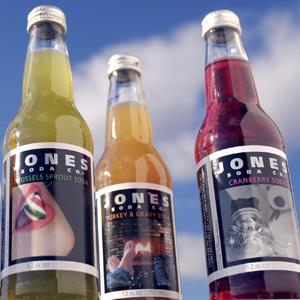 Jones Soda Company soda on display