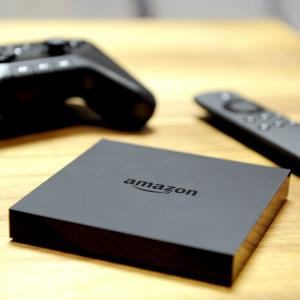 Amazon Fire TV set-top box and remote © Diane Bondareff/Invision for Amazon/AP Images