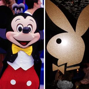 From left: Mickey Mouse at Disney World; Atmosphere at the 50th anniversary of the Playboy Club & Playboy Bunny at Juliet Supper Club on June 10, 2010 in New York City