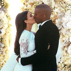Kim Kardashian & Kanye West wedding © Kim Kardashian via Instagram at http://aka.ms/Fw0s59