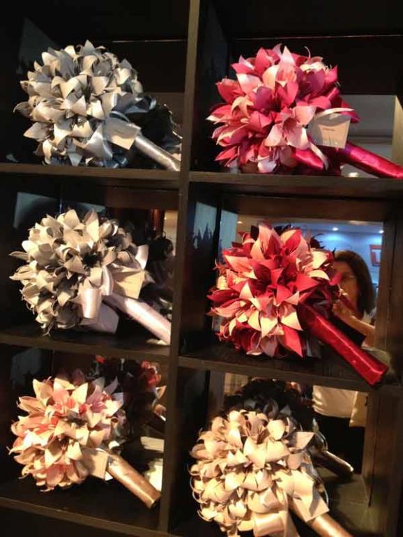 buquê flores origami