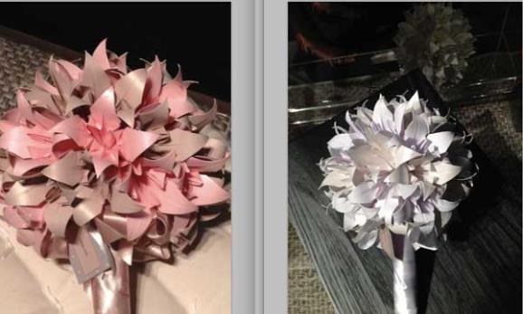 buquês flores origami
