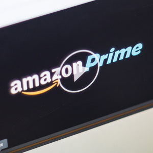 The Amazon Prime logo (c) Richard Levine/Demotix/Corbis