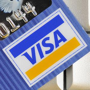 VISA credit card © Rex Features