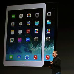 Caption: Apple Senior Vice President of Worldwide Marketing Phil Schiller announces the new iPad Air