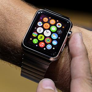 The Apple Watch was unveiled at the product announcement in Cupertino, Calif., on Tuesday, Sept. 9, 2014 © David Paul Morris/Bloomberg via Getty Images